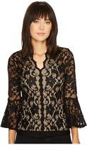Karen Kane Scallop Lace Top Women's Clothing