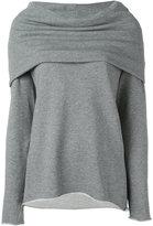 RtA draped neck blouse - women - Cotton/Polyester - XS