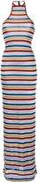 DSQUARED2 metallic stripe maxi dress