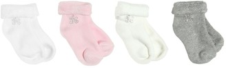 Tartine et Chocolat Set Of 4 Embellished Cotton Knit Socks