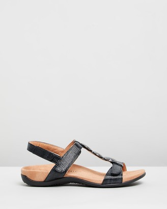 Vionic Women's Black Flat Sandals - Farra Backstrap Sandals - Size One Size, 5 at The Iconic