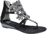 Muk Luks Thong Wedge Sandals - Athena