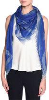 Giorgio Armani Modal/Silk Logo Scarf, Royal Blue
