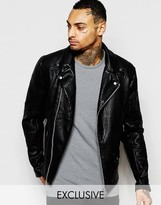 Religion Exclusive Faux Leather Jacket Biker Jacket