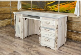 Loon Peak Tustin Solid Wood Desk Color: Ready To Finish