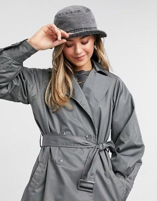 Threadbare louisa mac coat in slate grey