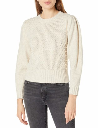 ASTR the Label Women's Cindy Long Sleeve Textured Round Neck Knit Sweater