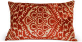 Orientalist Home Nasha 16x24 Silk Velvet Pillow, Red