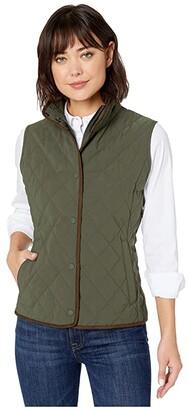 Vineyard Vines Quilted Vest (Dark Moss) Women's Vest
