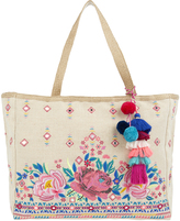 Accessorize Rose Embroidered Tote Bag