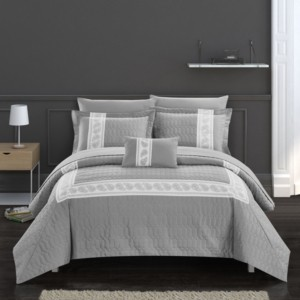 Chic Home Titian 6 Piece Twin Bed In a Bag Comforter Set Bedding
