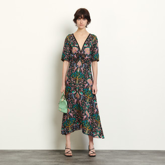 Sandro Long dress in printed jacquard