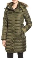 Sam Edelman Women's Faux Fur Trim Down & Feather Fill Puffer Coat
