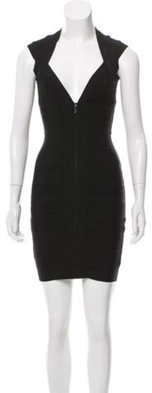 Herve Leger Bandage Mini Dress Black Bandage Mini Dress