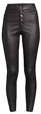 Alice + Olivia Women's Mikah High-Rise Leather Leggings