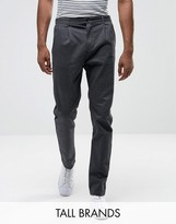 Selected Homme Tall Tapered Fit Trouser With Pleat Detail
