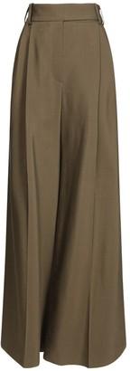 Alexandre Vauthier Viscose & Cotton Crepe Wide Leg Pants