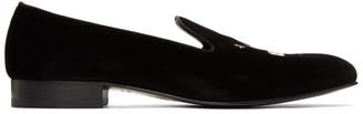 Gucci Black Velvet Loafers