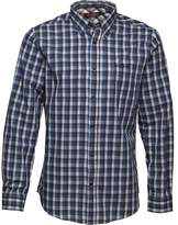Ben Sherman Long Sleeve Overcheck Shirt Blue