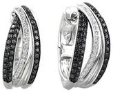 Effy Jewelry Effy Caviar 14K White Gold Black and White Diamond Earrings, .71 TCW