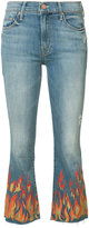 Mother Insider crop fray jeans - women - Cotton/Polyester/Spandex/Elastane - 24
