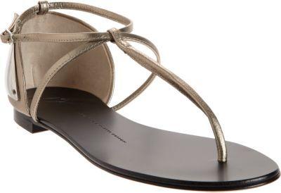 Giuseppe Zanotti Plated Heel T-Strap Sandal
