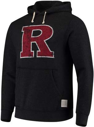 Original Retro Brand Unbranded Men's Black Rutgers Scarlet Knights School Logo Tri-Blend Hoodie