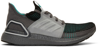 adidas Grey and Green Ultraboost 19 Sneakers