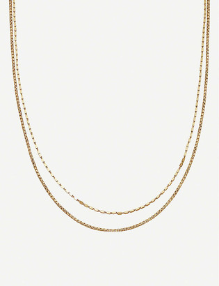Missoma Box link double chain 18ct gold vermeil on sterling silver necklace