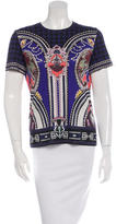 Mary Katrantzou Plaid-Accented Printed Top