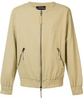 Publish collarless bomber jacket