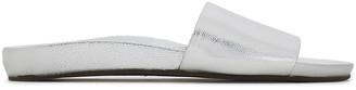 Schutz Metallic Textured-leather Slides
