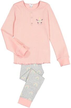La Redoute Collections Unicorn Print Cotton Pyjamas, 3-12 Years
