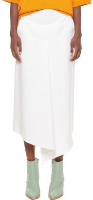 Tibi Compact Cotton Suiting Drape Skirt
