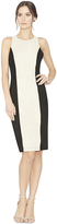 Alice + Olivia Dex Suede Colorblock Fitted Dress