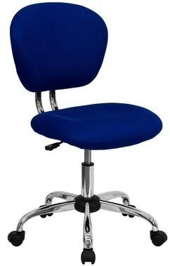 Wayfair Basics Mesh Task Chair Wayfair Basicsa Upholstery Color: Blue Mesh, Arms: No