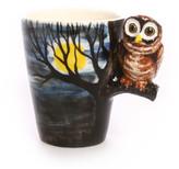 Blue Witch Ceramics Owl Mug