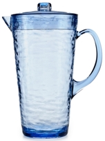 Martha Stewart Collection Textured Blue Acrylic Pitcher