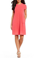 J.Mclaughlin J. McLaughlin Crew Neck Cap Sleeve Swing Dress