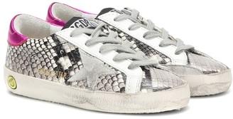 Golden Goose Kids Superstar snake-print sneakers