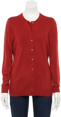 Croft & Barrow Petite Essential Button-Front Cardigan