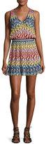 Missoni Mare Pizzo Onda Multicolor V-Neck Coverup Dress, Multicolor