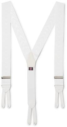 Favourbrook Pickwick Leather-Trimmed Polka-Dot Silk-Jacquard Braces