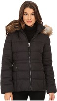 Jessica Simpson Wool Touch Puffer with Faux Fur