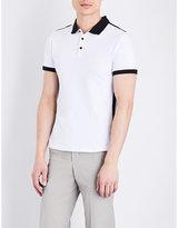Armani Jeans Mesh-sides Cotton-piqué Polo Shirt