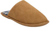 John Lewis Suede Check Lined Mule, Chestnut