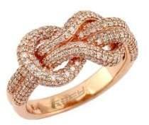 Effy Diamond & 14K Rose Gold Ring, 0.88 TCW
