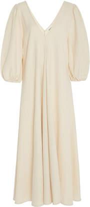 ST. AGNI Sunday Linen-Blend Midi Dress