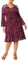 Style And Co. Plus Peasant Fit-&-Flare Dress