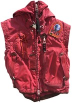 Parajumpers Red Cotton Leather Jacket for Women